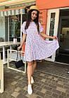 Платье летнее NOBILITAS 42 - 52 сиреневое штапель (арт. 21020), фото 5