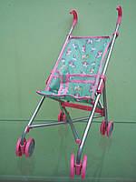 Коляска для кукол, игрушечная коляска трость, единорожки ментол, 9302