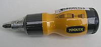 Отвертка 6 в 1 реверсивная CrV Toolex 88T517