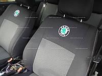 Чехлы на сидения Skoda Fabia (6Y) Hatch-B  с 2011 г.(раздельная) EMC-Elegant, фото 1