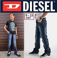 Джинсы синие детские, подростковые, с карманами Diesel&Vigos, брюки джинсовые на мальчика., фото 1