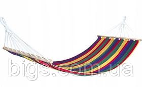 Гамак мексиканский тканевый 100*200 см с длинными планками