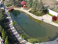 Применение пленки ПВХ при строительстве водоема, позволяет создавать декоративные и плавательные пруды любого размера и формы.