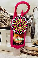 """Санитайзер для рук с ароматом персика в чехле """"Цветок"""""""