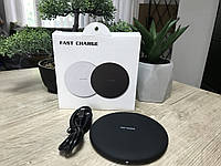 Быстрое беспроводное зарядное устройство Fast Charger KC-N5 матовый Черный Швидка бездротова зарядка