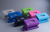 Дырокол пластиковый, RUBBER TOUCH, до 10 л., 120х58х59 мм, светло-зеленый, фото 2