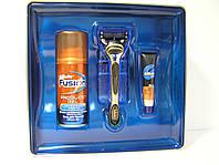 Набор для бритья для бритья Gillette Fusion Proglide (Жиллет Станок + 2 кассеты + Fusion гель 75 мл.+бальзам), фото 1