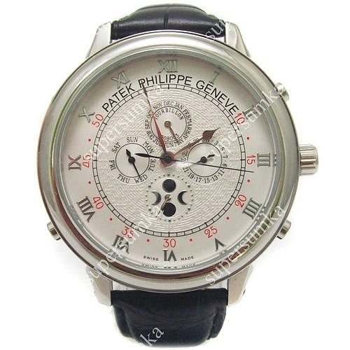 Стильные наручные часы Patek Philippe Sky Moon Black/Silver/Silver 1925