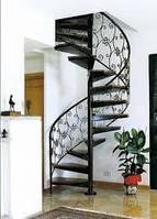 Дизайн кованых лестниц