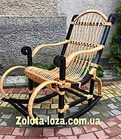 Плетеная Кресло-качалка из лозы. Арт: 9970