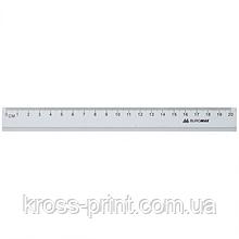 Линейка алюминиевая, 20 см, инд. упаковка