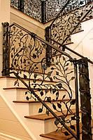 Перила и ограждения кованые для лестниц