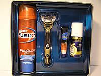 Набор для бритья Gillette Fusion Proglide Power (Станок+1 кассета+ гель 200 мл.+бальзам+аэрозольный дезодоран), фото 1