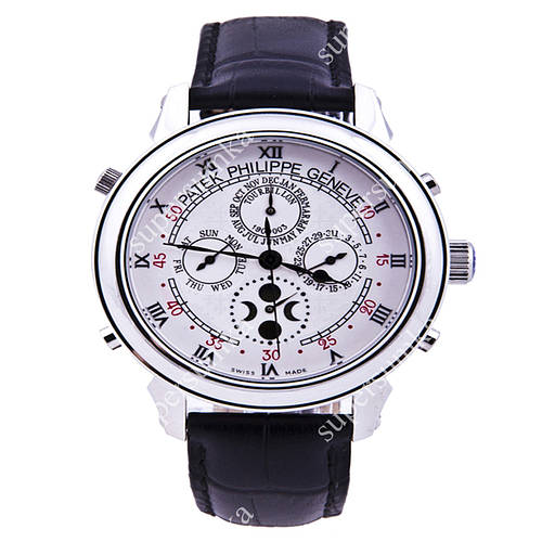 Классические наручные часы Patek Philippe Sky Moon Black/Silver/White 1928