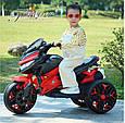 Детский спортивный электромотоцикл BMW Sport (синий цвет), фото 4