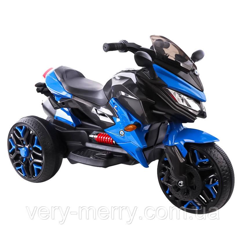 Детский спортивный электромотоцикл BMW Sport (синий цвет)