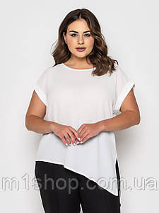 Женская белая шифоновая блузка (Пэтси lzn)