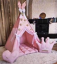 Вигвам Принцесса БОНБОН Полный комплект! Вигвам для девочки, детский вигвам, детский домик, вигвам для детей