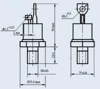 Тиристор Т122-25-12 кл.
