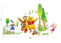 """Детская виниловая наклейка на стену """"Винни Пух с друзьями """""""
