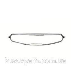 Декоративная накладка решетки радиатора хром Kia Cadneza K7 2016-