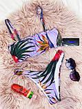 Роздільний Купальник жіночий Білий з топом з сьемными бретелями на поролонових чашках і плавками бразильяна, фото 5