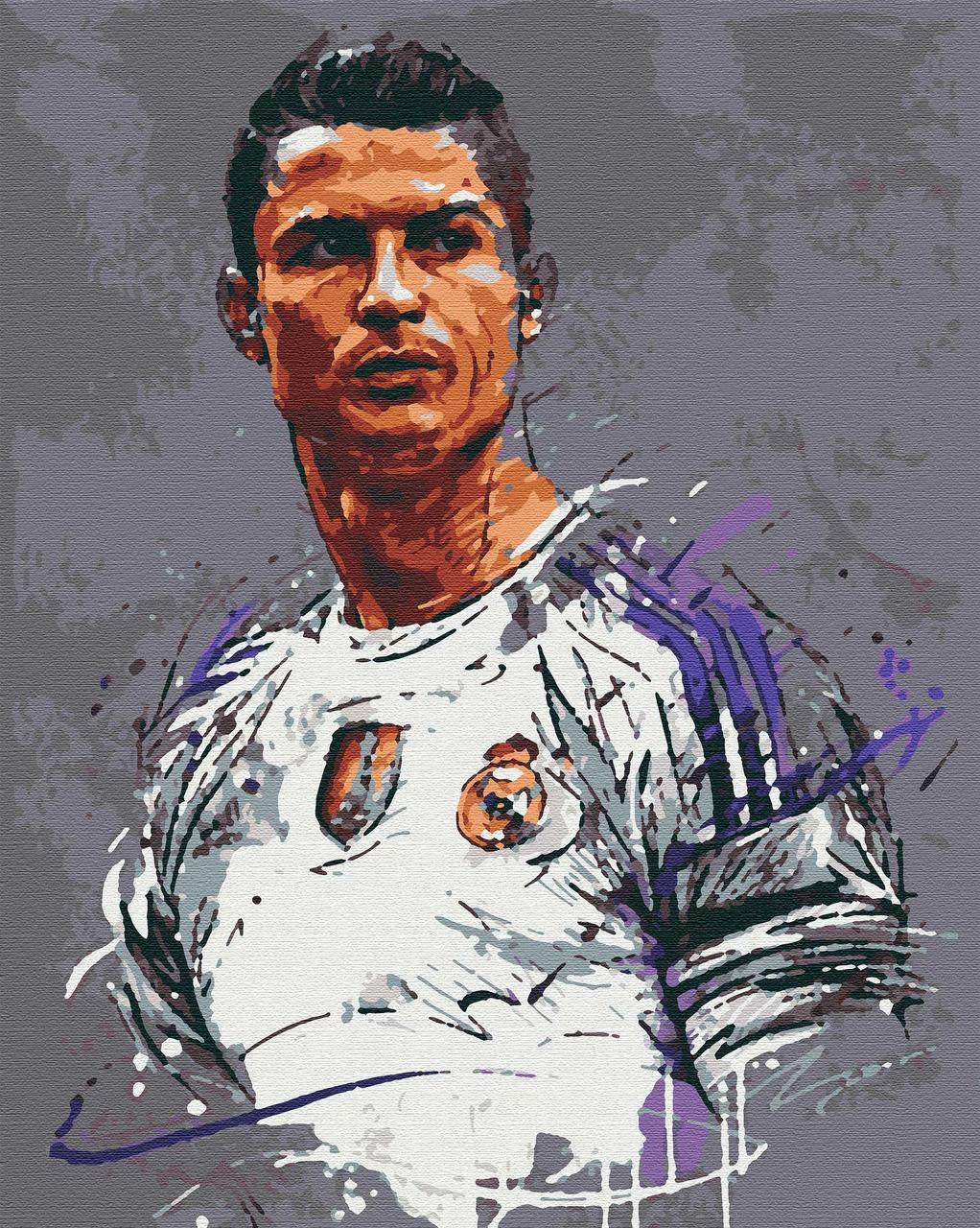 Картина за номерами люди футболісти 40х50 Ronaldo