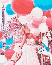 Картины по номерам путешествия люди девушка париж 40х50 Парижская Карусель