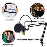 Мікрофон конденсаторний BM800 звукова карта мікшер з пантографом і аксесуарами, фото 7