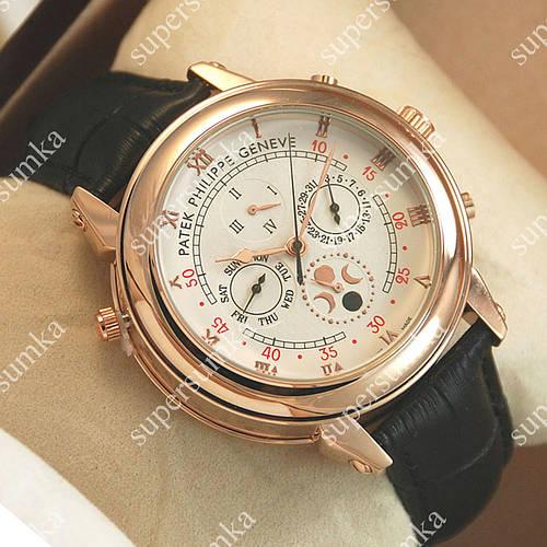 Стильные наручные часы Patek Philippe Sky Moon Black/Gold/White 1930