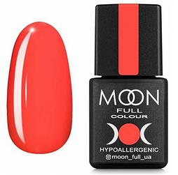 Гель-лак MOON FULL Neon №706 коралловый, 8 мл.