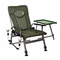 Кресло рыбацкое карповое со столиком и держателем удочки Elektrostatyk F5R ST/P (до120 кг)