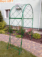 Арка садовая для роз 160х220х50 см. Арка для роз из металла. Арка садовая разборная. Арка садовая для растений