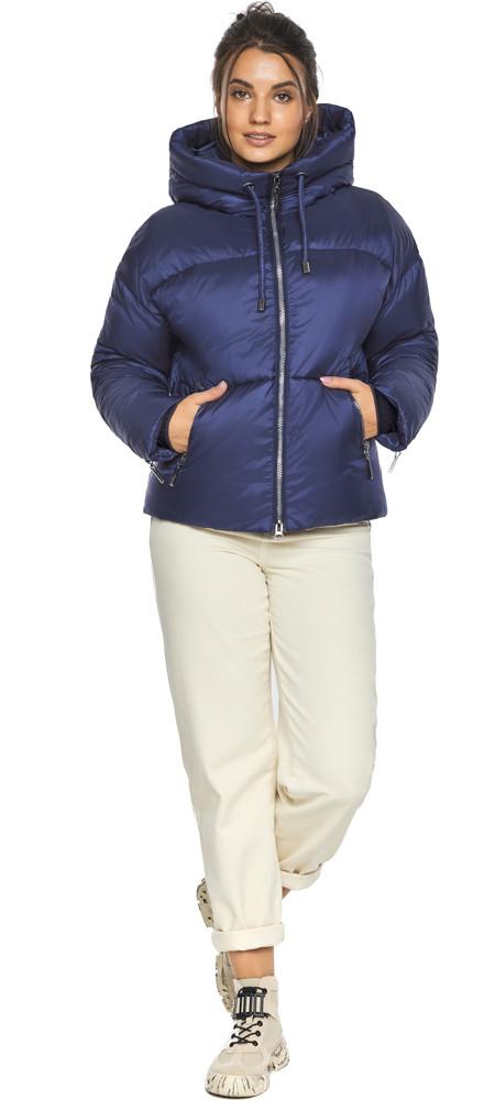 Куртка на змейке женская цвет синий бархат модель 46280