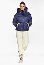 Куртка на змійці жіноча колір синій оксамит модель 46280, фото 2