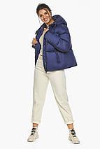 Куртка на змейке женская цвет синий бархат модель 46280, фото 3