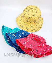 Панамка дитяча, з тонкого котону, декоративно прикрашена ажурним бантом 54р код 7098 Glory-kids
