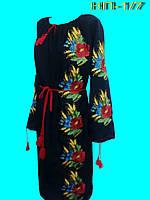Вышитое маками женское платье Вишита жіноча сукня.
