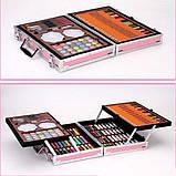 Художественный набор для рисования 145 предметов в алюминиевом чемоданчике РОЗОВЫЙ, фото 5