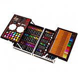 Художній набір для малювання 145 предметів в алюмінієвому валізці | Набір для творчості Єдиноріг, фото 3