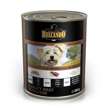 Консерва Belcando Quality meat with liever / Мясо с печенью для собак, 0,4 кг