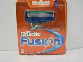 Кассеты для бритья мужские Gillette Fusion 2 шт. ( Картриджи,лезвия Жиллетт Фюжин Оригинал)