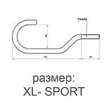 Крюк для велосипеда К-001XL с метрической резьбой комплект 2шт, фото 2