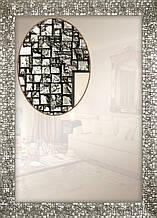 Зеркало в багетной раме для ванной