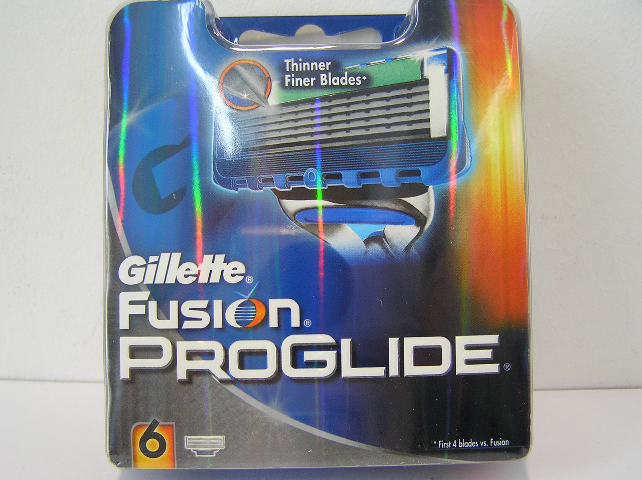 Кассеты Gillette Fusion Proglide 6 шт. ( Картриджи лезвия жиллетт Фюжин проглейд Оригинал )