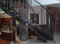 Белая кованная лестница