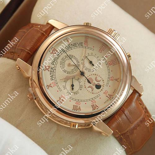 Классические наручные часы Patek Philippe Sky Moon Brown/Gold/Milk 1934