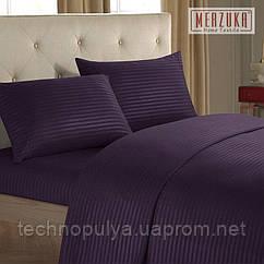 Постельный комплект MERZUKA страйп-сатин Евро Фиолетовый
