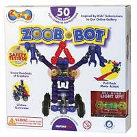 ZOOB-BOT Конструктор 50 деталей + 4 колеса + иннерционный механизм