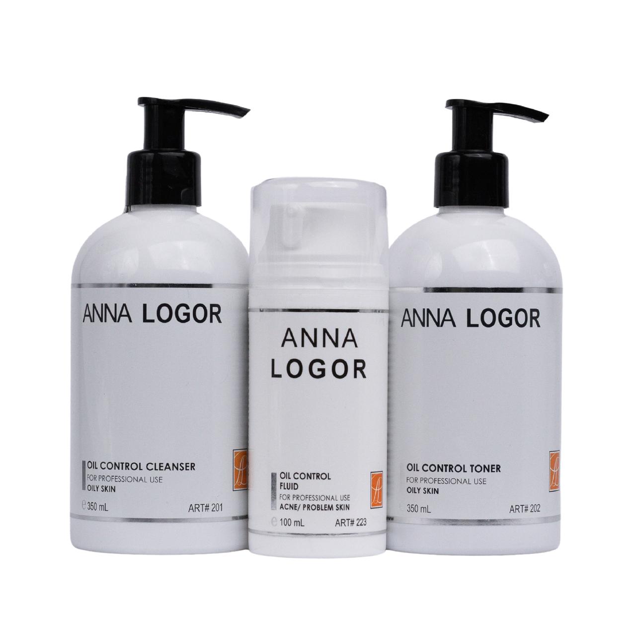 Набір косметики Anna LOGOR Oil Control + Fluid. Серія для жирної шкіри обличчя
